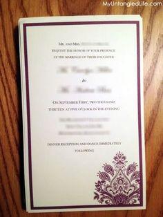 The invitation - DIY Wedding Invitation post via @My Untangled