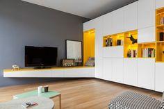 дневник дизайнера: Желтый цвет в современном интерьере парижской квартиры от Glenn Medioni
