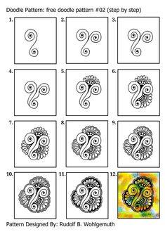 #zendoodle #zenart #doodle pattern #free doodle #lineart #freeart #zentangle #Gekritzeltes #creative 'kreativ