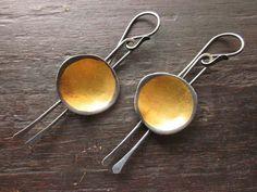 Celie Fago-Gold Bowl Earrings.