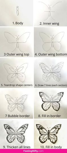 How to Draw a Butterfly Easy-Peasy & Fast ! {for kids, teens and adults}