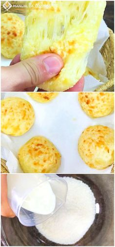 Pão de queijo com massa de tapioca