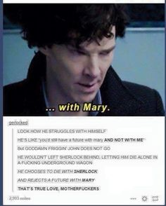 YES, SO MUCH YES. He clearly had a chance to run away to survive with Mary or even just run to get help but CHOSE to die with Sherlock.
