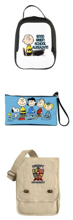 Whether you're going back to school or just going out to lunch, use these fun Peanuts totes for your next outing. Cafepress has many different designs and many different styles of lunch bags, tote bags and more. Start shopping at CollectPeanuts.com and support our site. Thank you!
