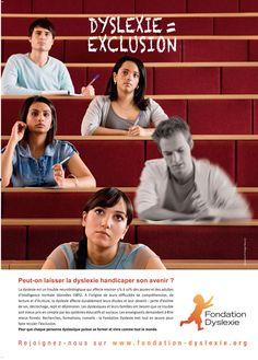 """Annonce Etudiants de la campagne """"Dyslexie = Exclusion"""" de la Fondation Dyslexie Trouble, Movies, Movie Posters, Awareness Campaign, Dyslexia, Self Esteem, Learning, Reading, Films"""