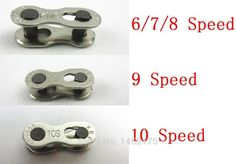 1 Pair 2pcs Bike Chains mountain road bike bicycle chain Connector for 6/7/8/9/10 Speed Quick Master Link Joint Chain bike parts * Continue to the product at the image link.
