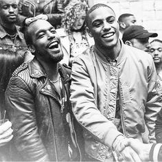 Luke James and Keith Powers. #BlackBoyJoy at it's finest!