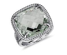 green quartz rings   Green Quartz Ring in Sterling Silver   Blue Nile