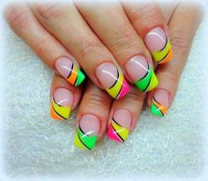 Neon French Nails tips