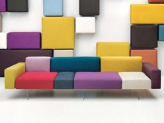 Modular sofa AIR by Lago | #design Daniele Lago #colour #interiors