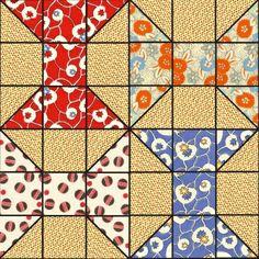 spool quilt block.