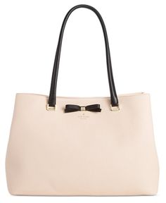 """Ever the faithful companion, kate spade new york's Maryanne tote boasts a timeless silhouette that goes anywhere and everywhere in perfect style.   Leather   Imported   15""""W x 10-3/10""""H x 5-9/10""""D   I"""