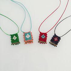 Little talismans for good luck ❤️ #handmade #necklace #macrame #talisman…