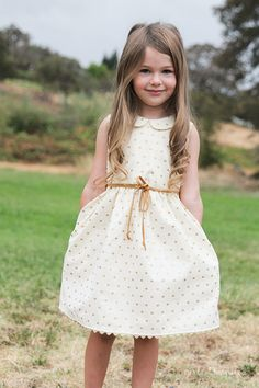 Gold Hearts Dress - #sewyourstyle