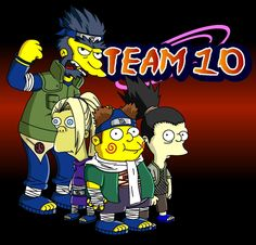 Naruto Simpsons - Team 10 by lloydvdw on DeviantArt
