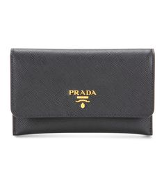 Prada Leather Wallet In Eero Color Names, Calf Leather, Continental Wallet, Leather Wallet, Balenciaga, Calves, Prada, Card Holder, Women Wear