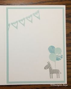 Stampin days; zoo babies, watercolor wishes, lucky stars, birthday bouquet dsp, party punch pack, Stampin' UP!