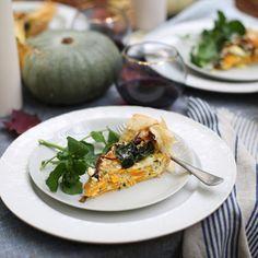 Recipe: pumpkin, rainbow chard and filo tart...