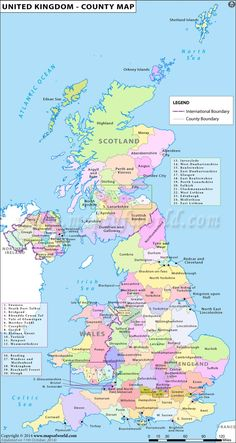 UK counties map