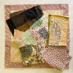 Excited to share this item from my #etsy shop: Antique Vintage Hand Stitched Quilt Pieces, Slow Stitching Textile Collage Upcycle Repurpose Well Worn Storied Fabrics Art Bundle #5030 Tie Quilt, Old Quilts, Better Love, Fabric Art, Hand Stitching, Repurposed, Upcycle, Fabrics, Collage