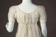 Dress ca. 1804, Object Number: 2002.035.0004, Kent State University Museum