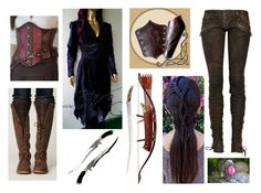 """""""Eleniel, daughter of Elrond"""" by amanda-gail on Polyvore featuring Balmain and Bow & Arrow"""