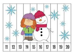 Here is a great for students to practice ordering numbers! With these immediate feedback puzzles, students can put the numbers in order to reveal a Winter related picture. If the numbers are out of order, then the picture will not look as it should. Preschool Math, Kindergarten Classroom, Fun Math, Classroom Activities, Teaching Math, Winter Activities, Number Puzzles, Math Numbers, Counting Puzzles