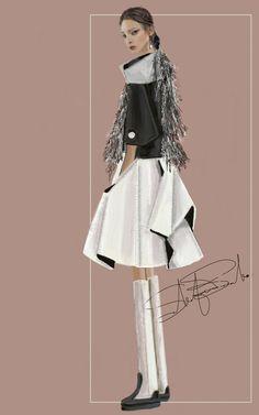 """Ginevra"" Sketch | Stefania Belmonte | my oufit | Fashion Illustration"