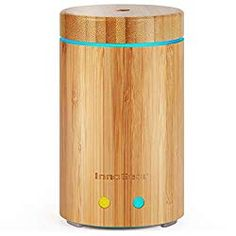 InnoGear Upgraded Real Bamboo Essential Oil Diffuser Ultrasonic Aroma Aromatherapy Diffusers Cool Mist Humidifier with Intermittent Continuous Mist 2 Working Modes Waterless Auto Off 7 Color LED Light Essential Oils For Massage, Best Essential Oils, Essential Oil Diffuser, Essential Oil Blends, Cypress Essential Oil, Cool Mist Humidifier, Plant Therapy, Good Massage, Fractionated Coconut Oil