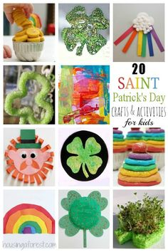 20 St Patricks Day Crafts for Kids