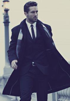 perfect coat, tie, scarf, hair etc...