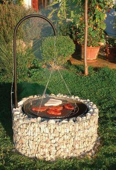 Barbecue dans un Chalet Grill