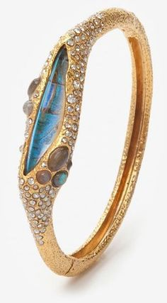 Bracelets Ideas : Alexis Bittar Labradorite Butterfly Bracelet - July 27 2019 at Jewelry Art, Jewelry Accessories, Fine Jewelry, Fashion Jewelry, Unique Jewelry, Jewelry Making, Alexis Bittar Bracelet, The Bling Ring, Butterfly Bracelet