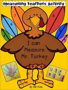 Measure Mr. Turkey - A fun measurement activity for Thanksgiving / Kindergarten