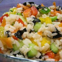 Sushi Rice Salad Recipe - Kosher Pareve Salad Recipes - Healthy Shabbos Salads - Lite Shabbat Summer Side Dish
