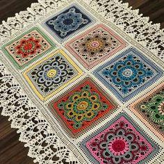 Home Decor Crochet Patterns Part 170 - Beautiful Crochet Patterns and Knitting Patterns Crochet Table Runner Pattern, Crochet Mandala Pattern, Crochet Square Patterns, Crochet Cardigan Pattern, Crochet Squares, Crochet Blanket Patterns, Crochet Doilies, Knitting Patterns, Crochet Home
