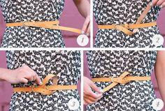 Dê um nózinho no seu cinto para um toque elaborado no visual.