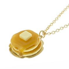 Maple Syrup Pancake Necklace