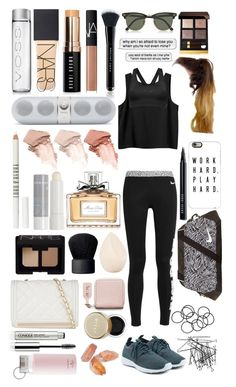 """""""Work hard, Play hard! #128"""" by lauren-yarrow ❤ liked on Polyvore featuring NIKE, Christian Dior, H&M, NARS Cosmetics, Marc Jacobs, Bobbi Brown Cosmetics, Monki, Stila, Ray-Ban and Too Faced Cosmetics"""