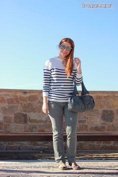 Casual gray & stripes - outfit - DoYouSpeakGossip.com