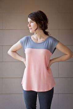 gorgeous colour blocked tee