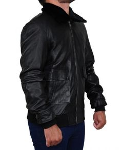 Simon Pegg Star Trek Beyond Movie Jacket Star Trek Beyond Movie, Simon Pegg, Black Faux Leather, Rib Knit, Leather Jacket, Celebs, Stars, Jackets, Fashion