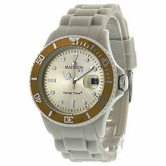 Madison Candy Time Creme Polycarbonate Unisex Watch U4167-09-1. Deal Price: $49.99. List Price: $100.00. Visit http://dealtodeals.com/featured-deals/madison-candy-time-creme-polycarbonate-unisex-watch-u4167/d19529/watches/c135/