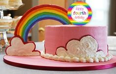 """Rainbow Party - Personalized 4"""" Party Circles"""