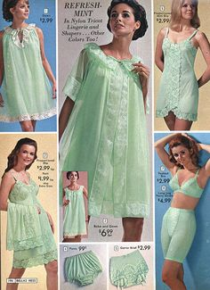 Lingerie I've always liked the taste of mint. makes my mouth water. Classic Lingerie, Retro Lingerie, Lingerie Set, Women Lingerie, Vintage Underwear, Vintage Clothing, Vintage Outfits, Vintage Girdle, Retro Mode