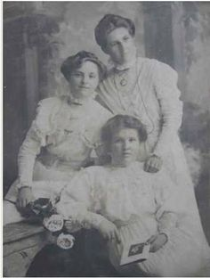 Keeping it in the Families,This is a photo taken in 1905 of the 3 PASCOE sisters who all married SCOTT brothers.Although born in Gympie 2 settled in Maryborough and 1 in Mackay.Sitting front is Lily(17) who married William 1907,middle is Daisy(18)who married Joseph C 1910 and standing is Frances(22)who married Sid 1911. Photo courtesy of Michael Hallinan Scott Brothers, Joseph, Families, Daisy, Sisters, Middle, Painting, Art, Art Background