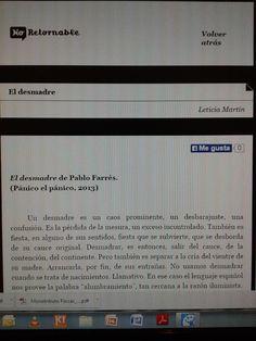 Título: El desmadre   Autor: Pablo Farrés   Revista: No-Retornable    http://www.no-retornable.com.ar/v15/nuevo/martin.html