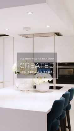 Megan's Dream Kitchen Television personality and singer-songwriter Megan McKenna wanted a kitchen th Kitchen Items, Home Decor Kitchen, Kitchen Interior, Small Cottage Interiors, Cottage Kitchens, Megan Mckenna, Wren Kitchen, White Gloss Kitchen, Handleless Kitchen