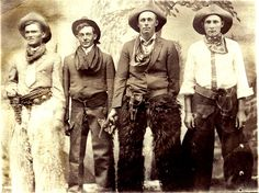 Gunslingers of the 1800's. These are the real deal...note the front ride holster, which would have been typical for speed draw when needed. There was more back-shooting than face to face.