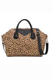 Leopard Print Shoulder Bag - Bags/Purses